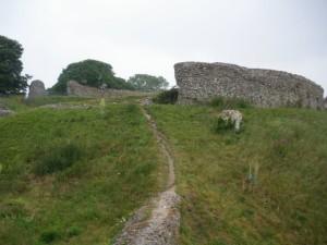 Approach to Castle Acre Castle