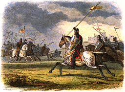 From A Chronicle of England. William the Lion charging the English. Source: Wikimedia Commons