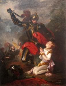 'The Murder of Rutland' by artist Robert Leslie