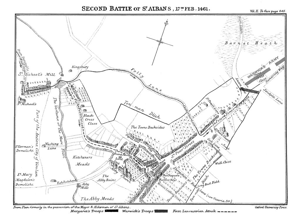 Ramsay's Map of the Second Battle of St Albans