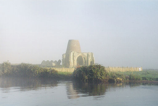 St Benet's Abbey in early morning mist  Photo by: Fenners