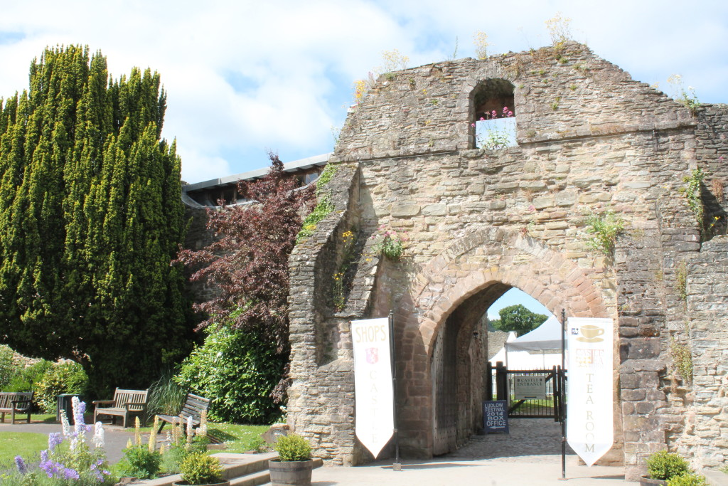 Entrance to Ludlow Castle