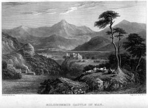 Kildrummie (Kildrummy) Castle Engraving by William Miller