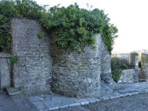 Today all that remains of Plymouth Castle are a few bits of stone walls. Source: Smalljim